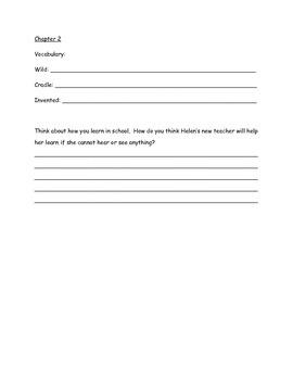 A Girl Named Helen Keller - Guided Reading Work Packet
