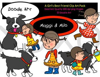 A Girl's Best Friend Clipart Pack