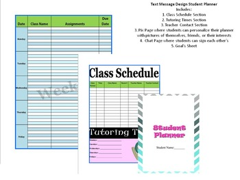 A Girly Student Planner Colorful Zebra Print