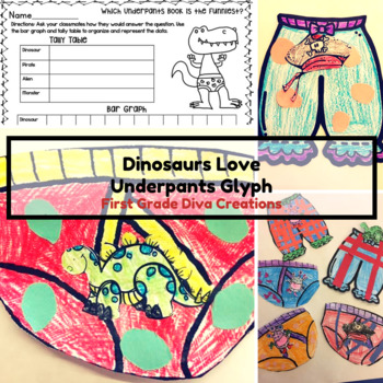 Dinosaurs love underpants teaching resources teachers pay teachers a glyph to accompany dinosaurs love underpants fandeluxe Image collections