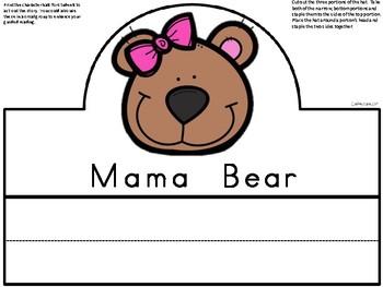 A+ Goldilocks And The Three Bears Character Hats