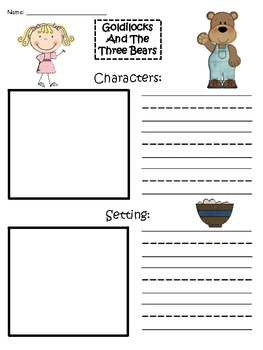 A+ Goldilocks And The Three Bears: Story Maps