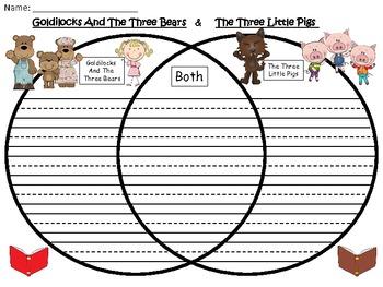 A+ Goldilocks And The Three Bears & The Three Little Pigs Venn Diagram