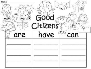 A+  Good Citizens... Three Graphic Organizers