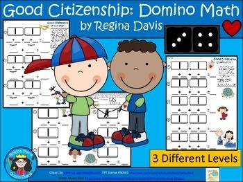A+ Addition Good Citizenship: Domino Math