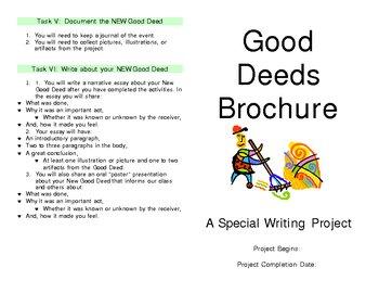 A Good Deed Writing Unit
