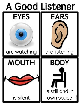 a good listener poster by sprouting learners tpt