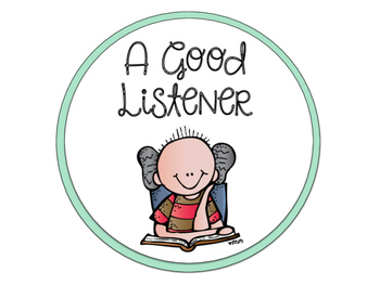 A Good Listener Poster Parts (Common Core Aligned)
