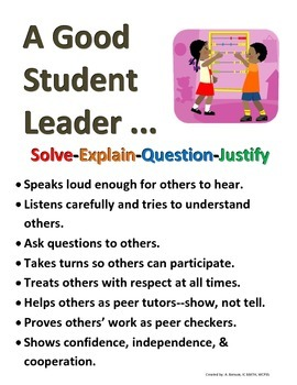 A Good Math Student Leader (Poster)