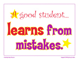 A Good Student Learns From Mistakes classroom poster