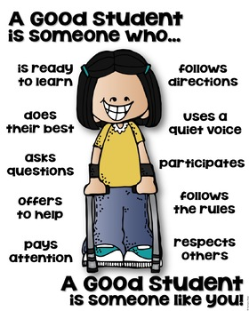 A Good Student Poster - Differently Abled [someone who]
