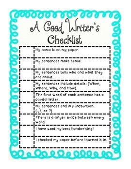 A Good Writer's Checklist