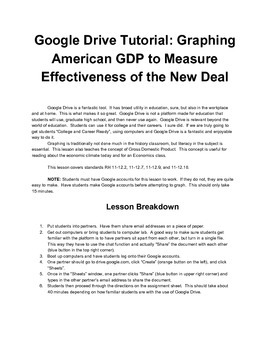 A Google Drive Tutorial: Graphing American GDP