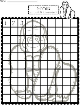 A+ Gorilla: Numbers 100 and 120 Chart