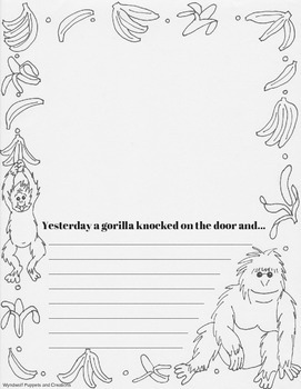 A Gorilla at my door Writing Prompt Pages