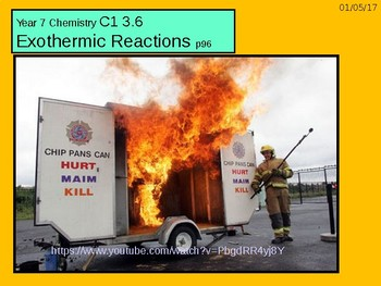 """A Grade 6 C1 3.6 """"Endothermic and Exothermic Reactions"""" lesson."""