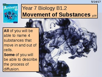 "A Grade 6 Multimedia lesson on ""Movement of Substances""."