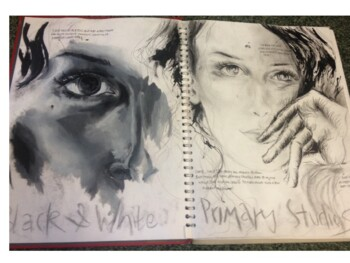 A Grade art work for A-Level students