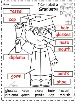 A+ Graduation Labels (Boy And Girl)....Kindergarten Graduation