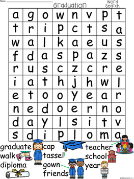 A+ Graduation Word Search: Differentiated Instruction