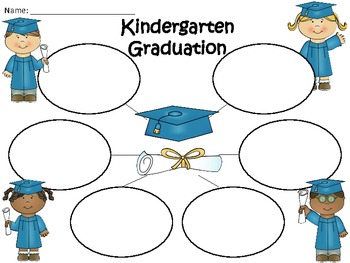 A+  Graduation or Kindergarten Graduation ... Three Graphic Organizers