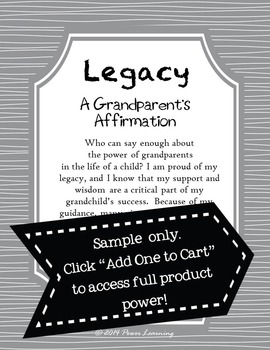 A Grandparent's Affirmation (Education Affirmations Series)