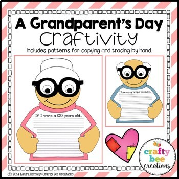 A Grandparent's Day Craftivity (100 Day too!)