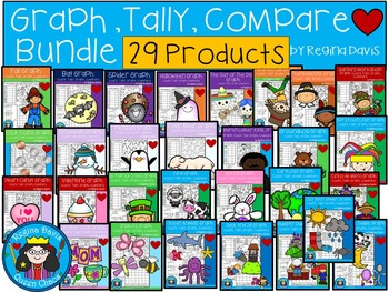A+  Graph, Tally, Compare Throughout The Year: Bundle Pack