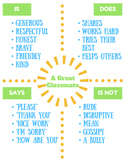 A Great Classmate - First Week Activity