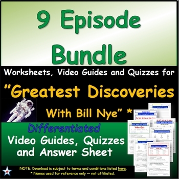 """A Greatest Discoveries  Bill Nye  """"All 9 Episodes"""" - Works"""