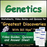 "A Greatest Discoveries  Bill Nye  ""Genetics"" - Worksheet, Ans &Two Quiz."