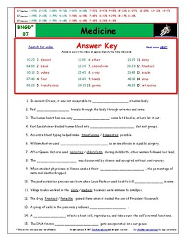 """A Greatest Discoveries  Bill Nye  """"Medicine"""" - Worksheet, Ans. Sheet, &Two Quiz."""