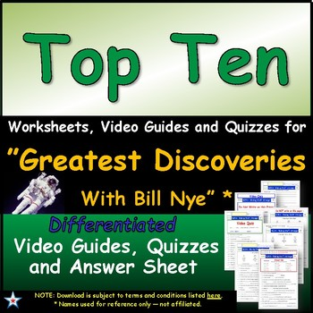 Differentiated Guide Quiz & Ans - Greatest Discoveries Bill Nye * Top Ten