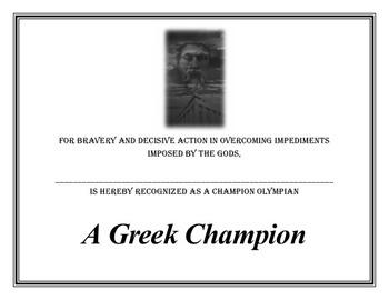 A Greek Champion Activity