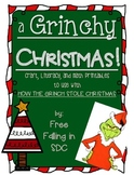 A Grinchy Christmas (craft, literacy, & math printables)