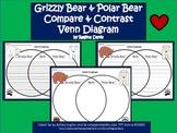 A+ Grizzly Bear & Polar Bear Venn Diagram...Compare and Contrast