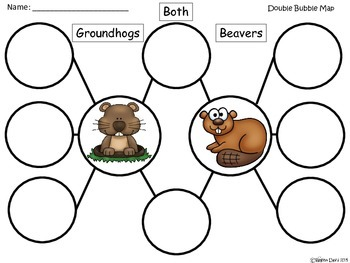 A+ Groundhog & Beaver:  Double Bubble Maps