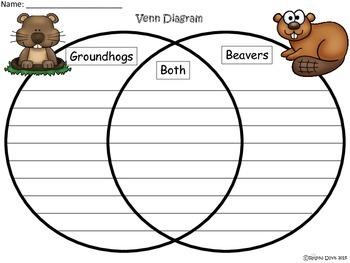 A+  Groundhog & Beaver Venn Diagram...Compare and Contrast