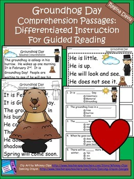 A+ Groundhog Day Comprehension: Differentiated Instruction For Guided Reading