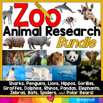 Zoo Animal Research Mixed w/ Authentic Literacy Practice: the BUNDLE!