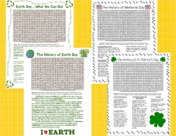 A Growing Bundle of Holiday Word Searches