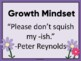 Growth Mindset Using The Book -ISH Reading, Art, Bulletin Board