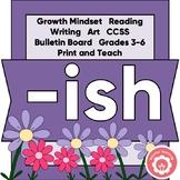 ISH: Growth Mindset, Reading, Art, Bulletin Board CCSS 3-6