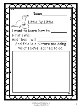 A Growth Mindset Lesson about Starting small using the book Little by Little