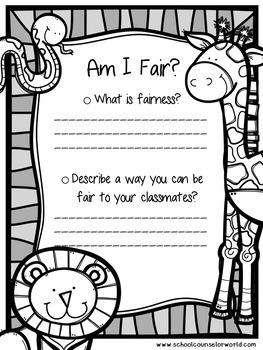 A Guidance Lesson on Being Fair Is Not Always Being Equal, Grades 4-6