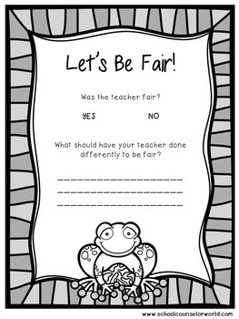 A Guidance Lesson on Being Fair is Not Always Being Equal, Grades K-1