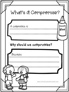 A Guidance Lesson on Conflict vs. Compromise, Grades 2-3
