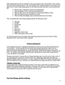 A Guide for Writing the Technical Research Paper