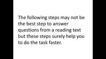A Guide to Answer Reading Comprehension Questions