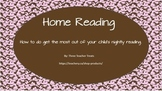 A Guide to Parents Home Reading Program